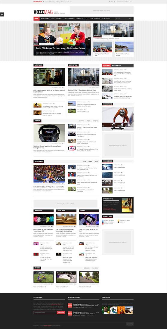 Joomla Newspaper Template Kubreforic